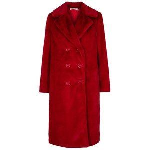 Alice + Olivia Jackets & Coats - Alice and oliva red faux fur jacket